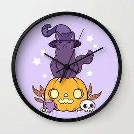 Pumpkin Cat Wall Clock