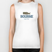 cape cod Biker Tanks featuring Bourne, Cape Cod by America Roadside