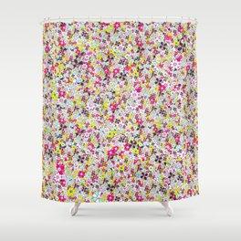 Social Flowers Shower Curtain