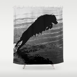Dog Jump Shower Curtain
