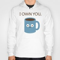 cup Hoodies featuring Coffee Talk by David Olenick