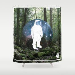Forest Space Shower Curtain