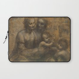 The Virgin and Child with St Anne and St John the Baptist by Leonardo da Vinci Laptop Sleeve