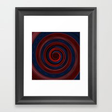 Re-Created Spin Painting (Midnight & Burgundy) Framed Art Print
