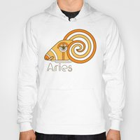 deco Hoodies featuring Deco Aries by Jorge Garza