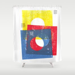 Basic in red, yellow and blue Shower Curtain