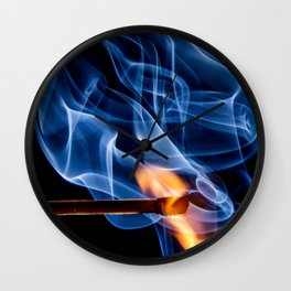 Burning Match | Lit Fire Wall Clock