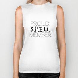 proud s.p.e.w. member // white Biker Tank