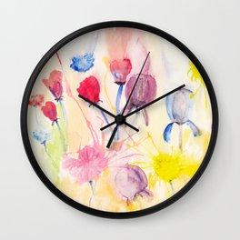 Wildblumen / Wild flowers Wall Clock