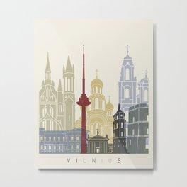 Vilnius skyline poster Metal Print