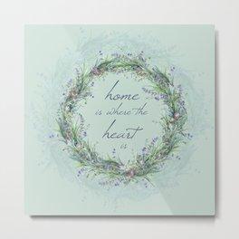 Lavander Wreath Light Metal Print
