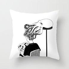 Octopus Salon Throw Pillow