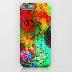 BUTTERFLY FEVER - Bold Rainbow Butterflies Fairy Garden Magical Bright Abstract Acrylic Painting iPhone 6s Slim Case