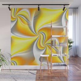Turn Around (yellow) Wall Mural