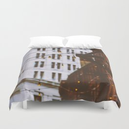 New York City Buildings and Lights (Color) Duvet Cover
