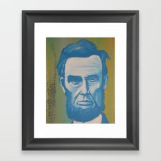 Blue Lincoln Framed Art Print
