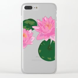 Lovely Lilies Clear iPhone Case