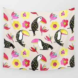 Watercolor toucan Wall Tapestry