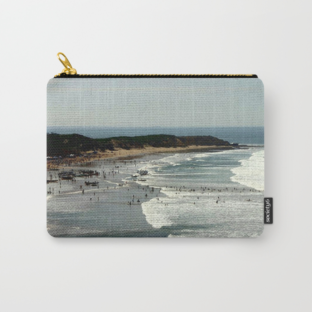 Torquay Heads - Rowing Regatta - Australia Carry-all Pouch by Cjcphotography CAP860131