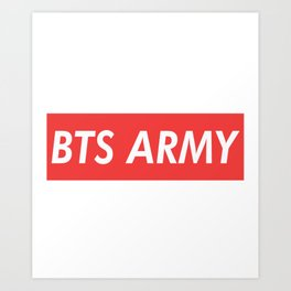 BTS ARMY red Art Print