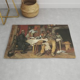 A Pastoral Visit, by Richard Norris Brooke, 1881, An African American family Rug