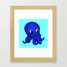 Octobaby Blue Framed Art Print