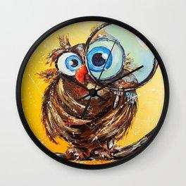 Inquisitive bird Wall Clock