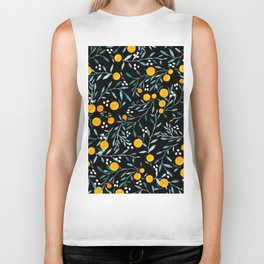 Oranges Black Biker Tank