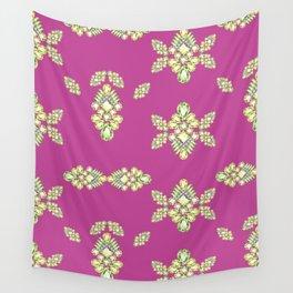 Jewelbox: Citrine Brooch on Dark Lipstick Wall Tapestry
