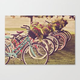 Beach Cruisers Canvas Print