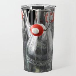 Symmetry of five empty glass bottle Travel Mug