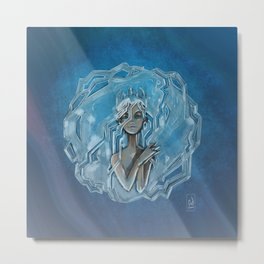 Ice Afro Queen Metal Print