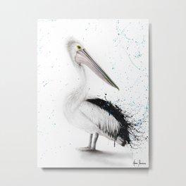 Proud Pelican Metal Print