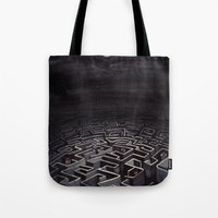 labyrinth Tote Bags featuring Labyrinth by Richard J. Bailey