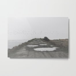 Foggy Beach Metal Print