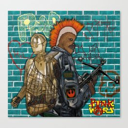 Punk Wars V Canvas Print