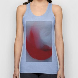 Fluffy Cardinal Red Moon Floats Cheerfully Into View Unisex Tank Top