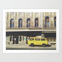 yellow submarine Art Prints featuring Yellow submarine by monicamarcov