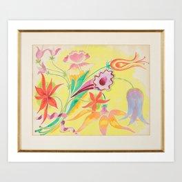 Floral Still Life, Isaac Grunewald, (1889-1946) impressionist 2 Art Print