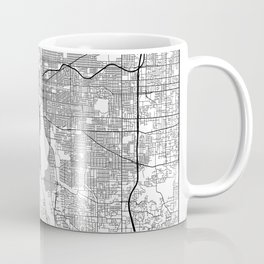 Minimal City Maps - Map Of Portland, Oregon, United States Coffee Mug