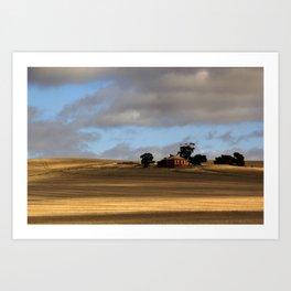 Rural Landscape and Farmhouse in Australia Art Print