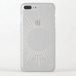 Simply Sunburst in Tropical Sea Blue Clear iPhone Case