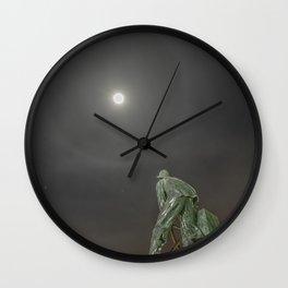 Man at the wheel Moon Halo Wall Clock