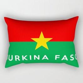 burkina faso country flag name text Rectangular Pillow