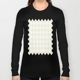Diamonds (Beige/White) Long Sleeve T-shirt