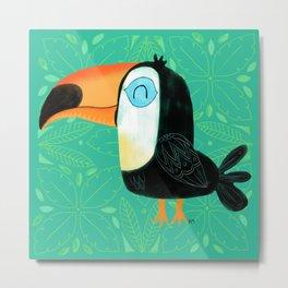 Tropical Toucan Bird Metal Print