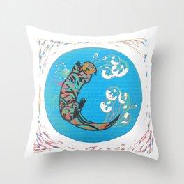 C-Otter Throw Pillow
