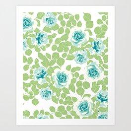 rose garden green Art Print