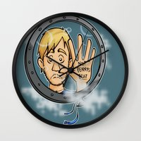 baloon Wall Clocks featuring Charlie baloon by Arry Design