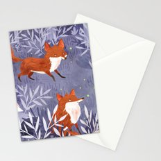 Foxes and Fireflies Stationery Cards